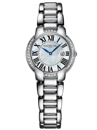Raymond Weil Jasmine Diamond Mother of Pearl Dial Stainless Steel Ladies Watch-5229-STS-00970