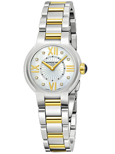 Raymond Weil Noemia Two-Tone Mother of Pearl Diamond Ladies Watch-5927-STP-00995
